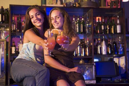 Young women in a bar photo