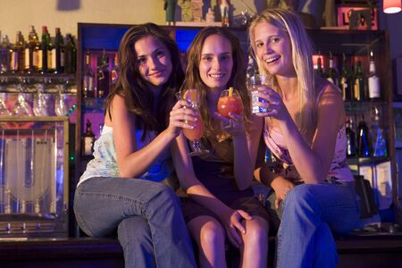 gels: Young women in a bar Stock Photo