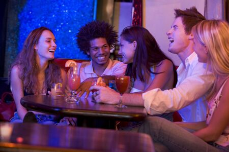 night club series: Young people at a bar