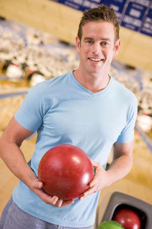 Man at a bowling lane photo