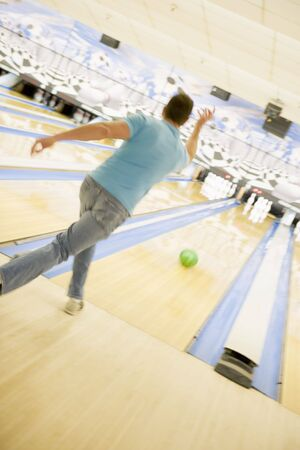Man bowling Stock Photo - 4497719