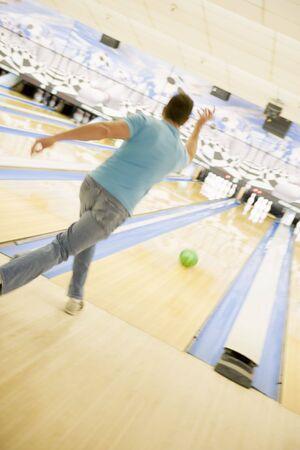 Man bowling Stock Photo - 4497719