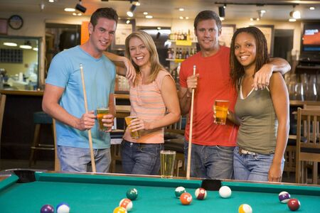 Friends at a pool hall Stock Photo - 3206769