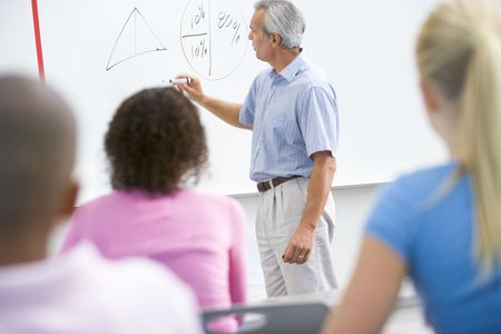 Students in math class with teacher Stock Photo - 3204705
