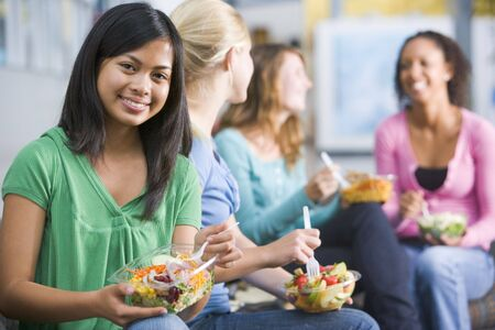 Students having lunch Stock Photo - 3201553