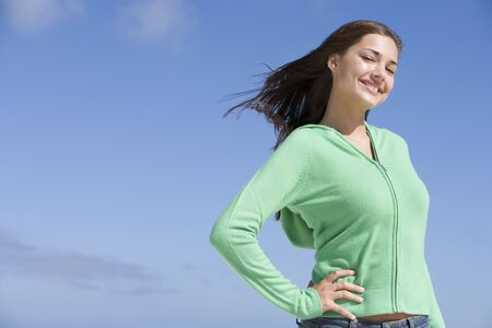 Young woman posing outdoors Stock Photo - 3204748