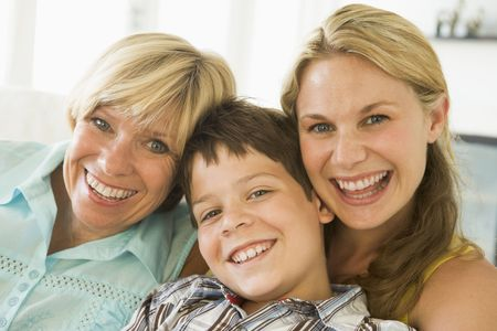 Mother with grown up daughter and son Stock Photo - 3460389