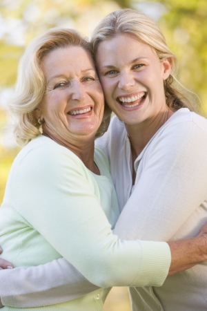 Mother hugging grown up daughter Stock Photo - 3460149