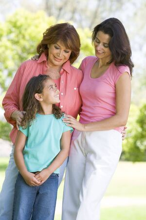 granddaughters: Grandmother with adult daughter and grandchild