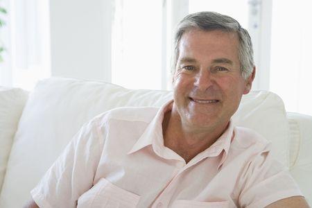 jill: Man in living room smiling
