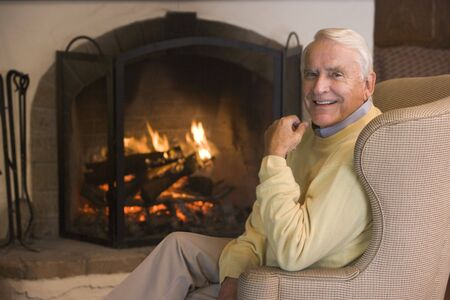 Man in living room smiling Stock Photo - 3475962