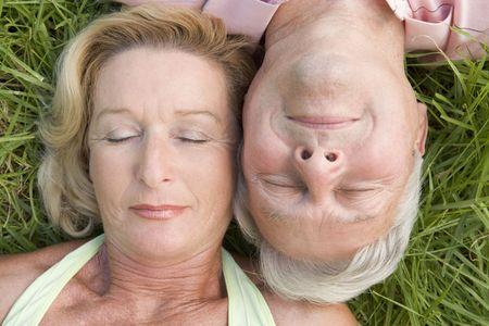 Couple sleeping outdoors Stock Photo - 3475957