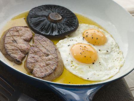 gamme de produit: Foie gras oeufs et les champignons Portabello