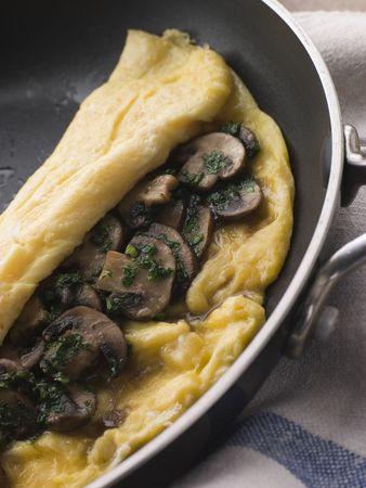 gamme de produit: Omelette champignons pli� en une omelette Pan