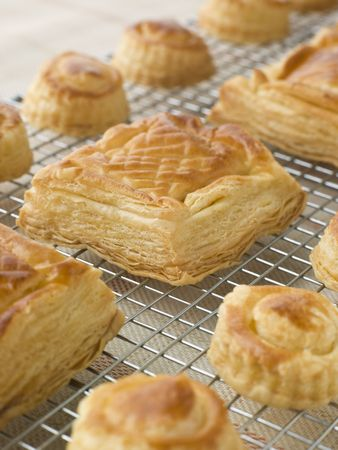 vents: Selection of Vol au vents on a Cooling rack
