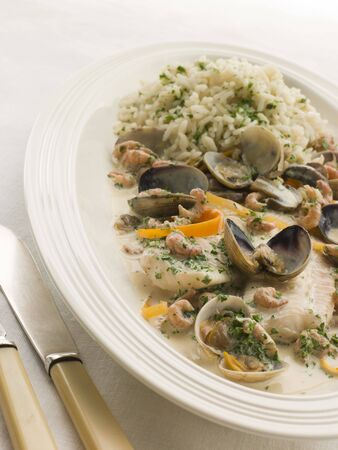 dover: Dover Sole Normande with Herb Rice