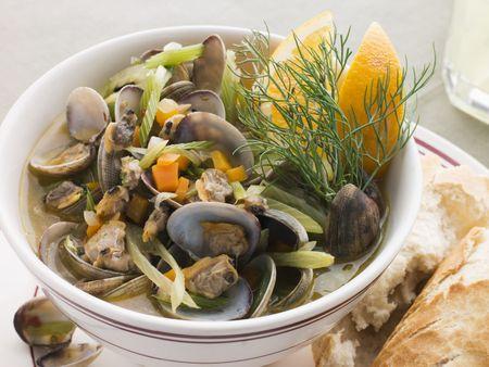 finocchio: Saut ed Bivalvi con Finocchi e Orange