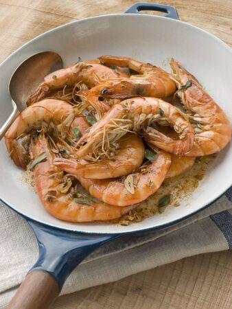 Mediterranean Prawns cooked in Pastis Stock Photo - 3432153