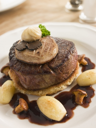 Tournedos Rossini with Cocotte Potatoes photo