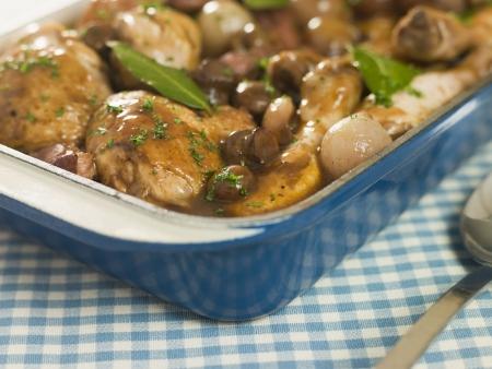 au: Dish of Coq au Vin