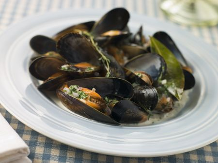 Plate of Moules Mariniere photo