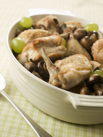 fricassee: Fricassee of Chicken  Mushrooms and Grapes