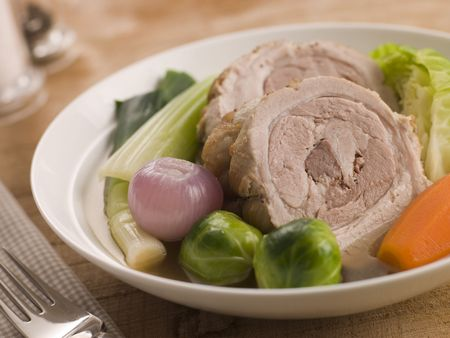 au: Bowl of Belly Pork Pot-au-Feu Stock Photo
