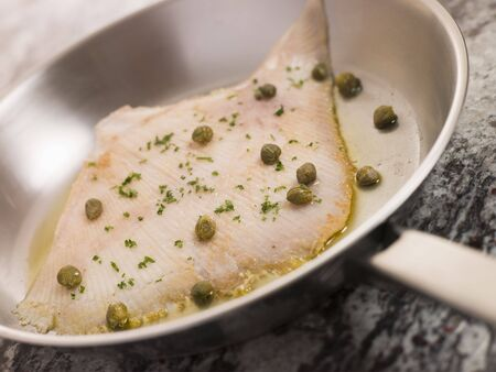 Pan Fried Wing of Skate with Caper Butter photo