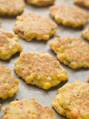 bign�: Vassoio di mais dolce frittelle