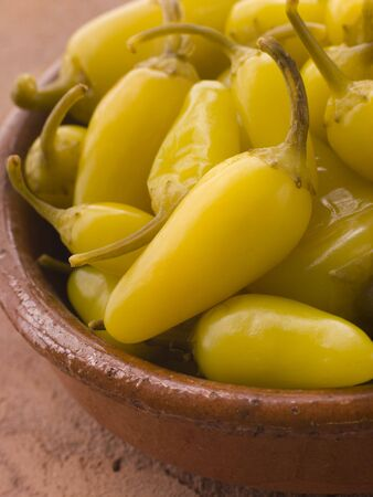 californian: Pickled Californian Chillies in a Dish