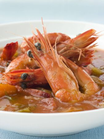 Bowl of Creole Shrimp Gumbo photo
