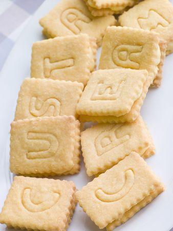 Custard Cream Biscuits Stock Photo - 3443679