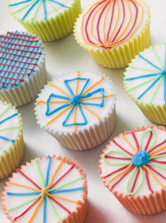 childrens meal: Kaliedoscope Cup Cakes Stock Photo