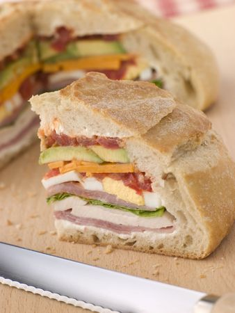 childrens meal: Stuffed Loaf Sandwich Stock Photo