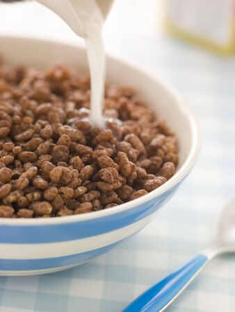 Chocolate coated Puffed Rice Cereal photo