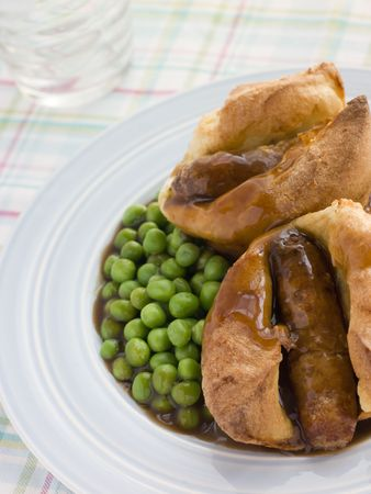 overs: Individual Toad in the Holes with Gravy and Peas