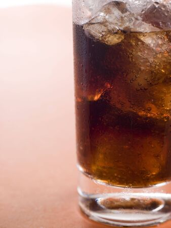 Glass of Cola with Ice Cubes Stock Photo - 3443665