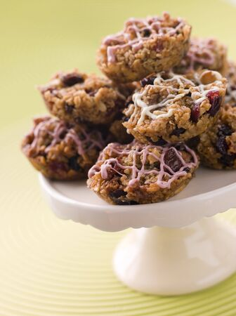 Fruit Nut and Chocolate Flapjack Cakes photo