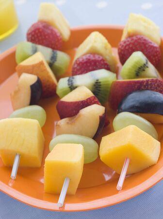 plum pudding: Frutta Kebabs