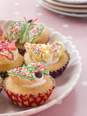 childrens meal: Butterfly Cup Cakes
