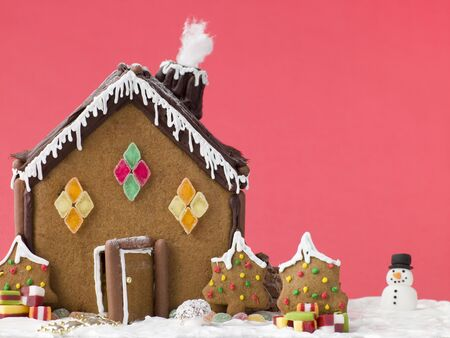 childrens meal: Gingerbread House Stock Photo