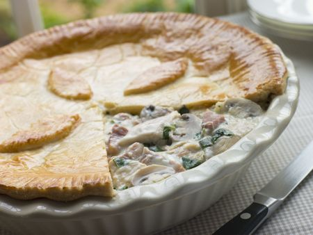 Chicken Gammon and Mushroom Pie