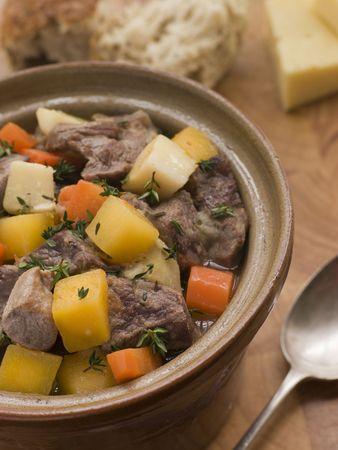 uk cuisine: Welsh Cawl in a Casserole Pot