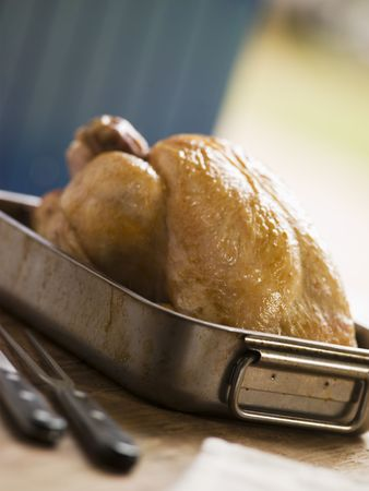 roasting: Roast Chicken in a Roasting Tray