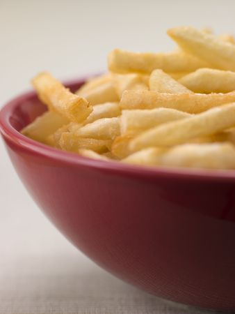british cuisine: Bowl of Chips