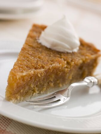 treacle: Slice of Treacle Tart with Whipped Cream
