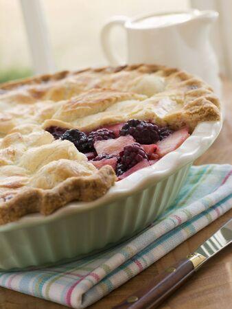 Hot Blackberry and Apple Pie photo