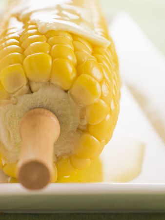 Corn on the Cob with Melted Butter photo
