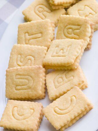 Custard Cream Biscuits Stock Photo - 3476543