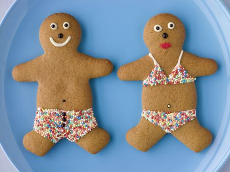 gingerbreadman: Gingerbread People with Sugar Candy Swimwear